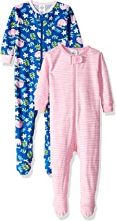 Baby Girls 2-Pack Footed Unionsuit