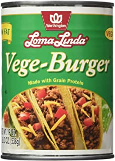 Loma Linda - Plant-Based - Vege Burger 1.18 Pound (Pack of 12) - Kosher