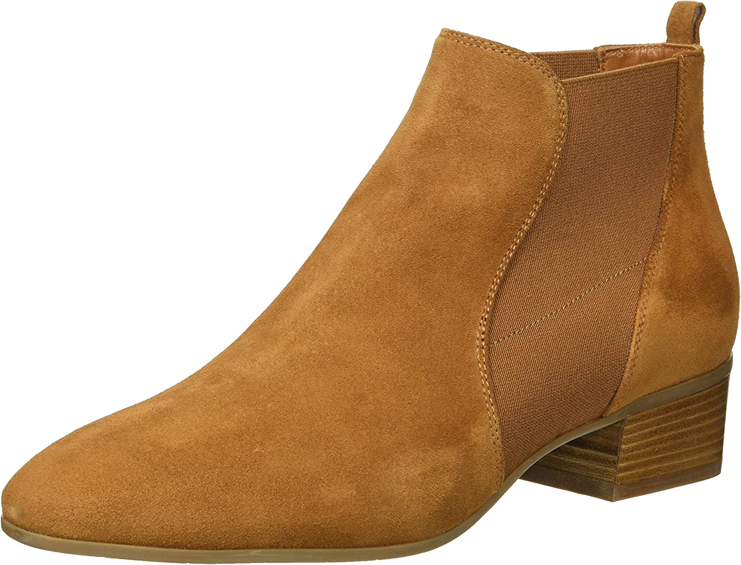 Aquatalia Women's Falco Suede Chelsea Boot bark 10.5M US