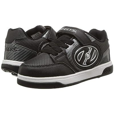 Heelys Plus X2 Lighted (Little Kid/Big Kid) (Black/Carbon) Boys Shoes