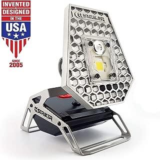 Striker Concepts STKR Concepts 00173 Striker Modern Mobile Task Light, 1200 Lumens, for Home and Camping, Silver