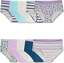 Fruit of the Loom Girls' Cotton Brief Underwear, Assorted