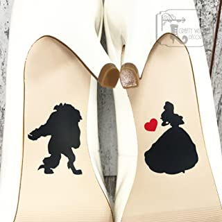 Beauty and the Beast Wedding Shoe Decals, High Heel Decals, Shoe Decals for Wedding, Wedding Shoe Decals, Disney Shoe Decals, Vinyl Shoe Decal
