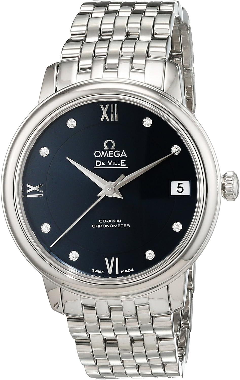 Inexpensive Omega De Ville Prestige Automatic Blue Diamond Dallas Mall St Dial Stainless