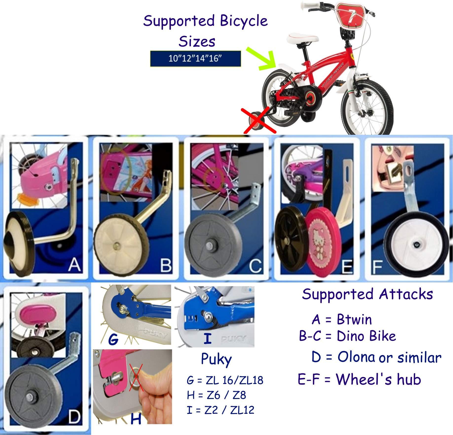 Bicicleta infantil sin pedales Estabilizadores de bicicleta para ...