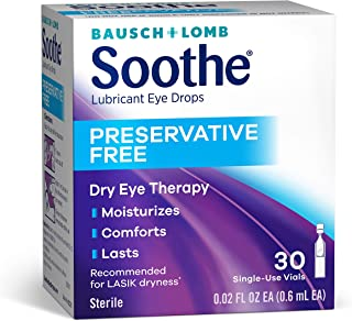 Bausch & Lomb Soothe Lubricant Eye Drops, 28 Count Single Use Dispensers (packaging may vary)