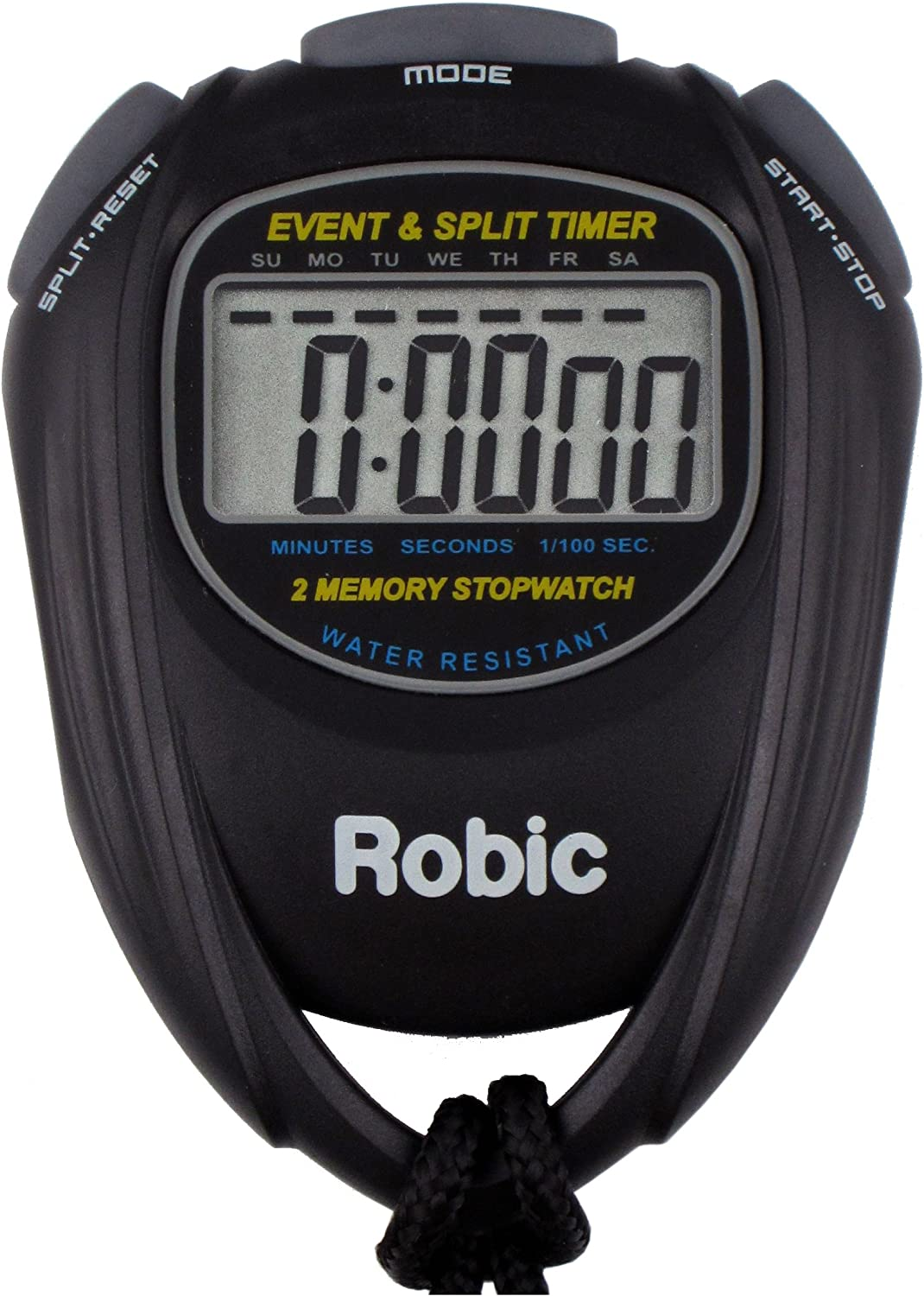 Robic - 67982 SC-539 Water Resistant Event and Split Time 2 Memo