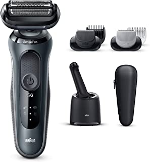 Braun 60-N7650cc, Series 6 Wet & Dry Shaver with SmartCare Center and 2 Attachments, Grey