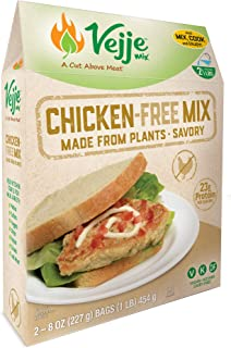 Vejje Meat-Free Mixes (CHICKEN-FREE MIX) (Single Box) (Makes 2.5 Pounds)