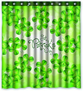 FMSHPON Happy St. Patrick's Day Waterproof Polyester Fabric Shower Curtain 66x72 Inches