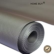 HOME BUY Anti Skid Mats & Liners for Drawer, Refrigerator, Cupboard, Shelf, Cabinet, Wardrobe, Fridge and Dining mat Size - 45X300cm (3 Meter Roll, Grey)