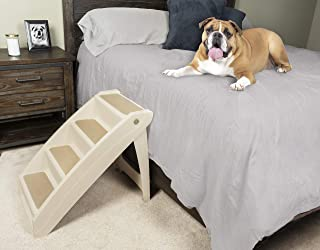 Solvit PetSafe PupSTEP Plus Pet Stairs, X-Large, Foldable Steps for Dogs and Cats, Best for Medium to Large Pets