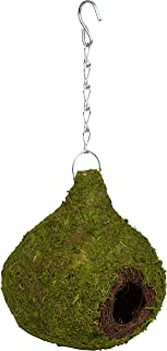 Trademark Innovations Hanging Moss Birdhouse and Nest with Chain