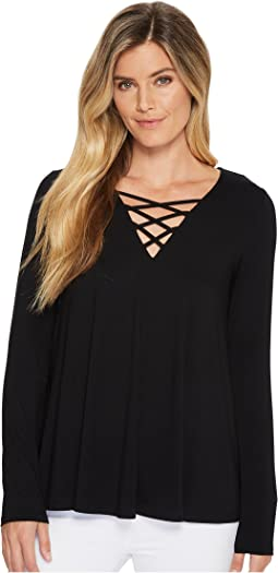 Karen Kane - Criss-Cross Swing Top