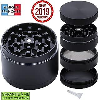 Takit Grinder [Best Grinder 2019] GARANTÍA DE por Vida: 4 Partes, Incluidos 3 Compartimentos con Filtro Y Mini Espátula- 55x40mm
