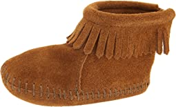 Suede Back Flap Bootie (Infant/Toddler)