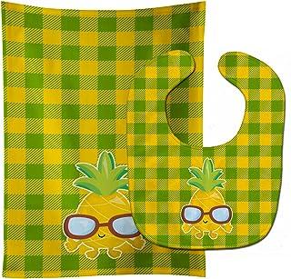 Caroline's Treasures Pineapple Cool Sunglasses Face Baby Bib & Burp Cloth, Multicolor, Large