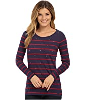 U.S. POLO ASSN. - Long Sleece Stripe and Sparkle Bling T-Shirt