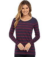 U.S. POLO ASSN. - Long Sleece Stripe and Sparkle Bling T-Shirt