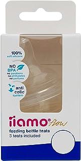 0M+ 3er-Packung iiamo flow 3 Anti-Kolik Flaschensauger aus reinem Silikon f/ür iiamo Babyfl/äschchen