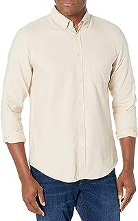 COTTON ON Men's Brunswick 3 Long Sleeve Shirt, Ecru, S