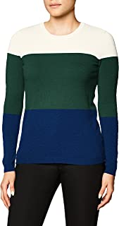 Lark & Ro Marca Amazon Suéter de Cachemira para Mujer con Cuello Redondo