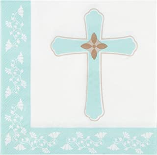 Cocktail Napkins - 150-Pack Luncheon Napkins, Disposable Paper Napkins Religious Party Supplies for Kids Birthdays, 2-Ply, Unfolded 13 x 13 inches, Folded 6.5 x 6.5 inches