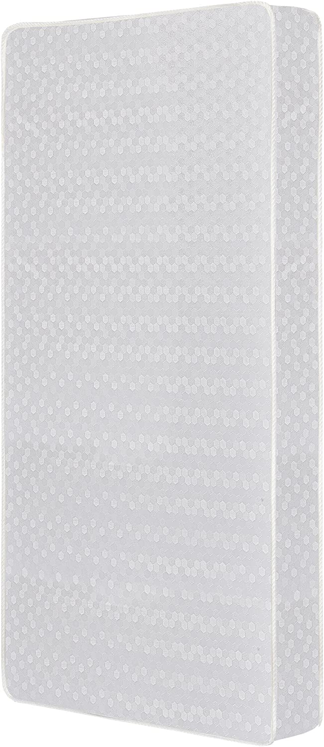 Dream On Me 6-Inch 2 in 1 Foam Core Crib and Toddler Bed Mattress, White