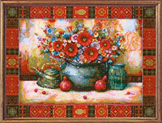 RIOLIS 1771 - Still Life After N. Japaridze's Painting - Counted Cross Stitch Kit 15¾