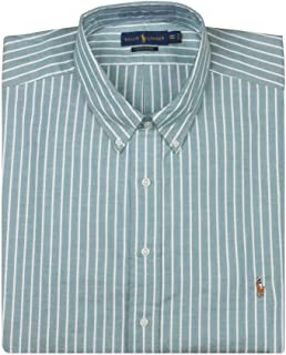 Men's Slim Fit Stretch Long Sleeve Button Front Oxford Shirt