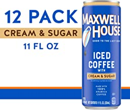 Maxwell House Ready to Drink Iced Coffee with Cream & Sugar (11 oz Can, Pack of 12)