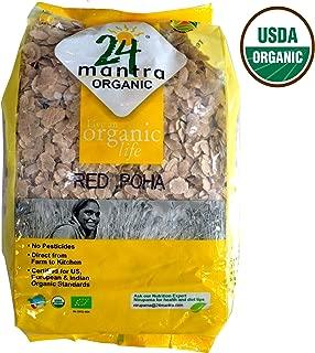 24 Letter Mantra Organic Beaten Rice, Poha Red, 2 lb