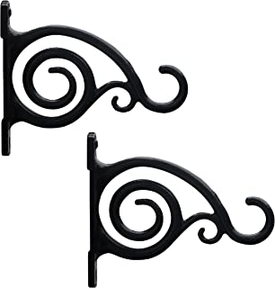 Gray Bunny Fancy Curved Hook, Black, for Bird Feeders, Planters, Lanterns, Wind Chimes, As Wall Brackets and More