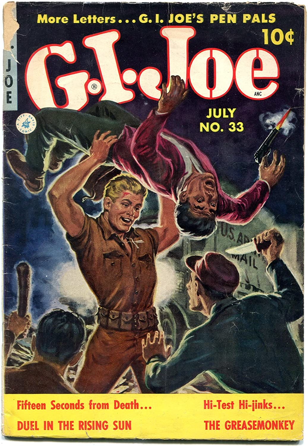 G.I. Joe #33 1954- Norman OFFicial store Saunders cover- VG Korean War G comic Directly managed store