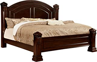 247SHOPATHOME Poster bed, King, Cherry