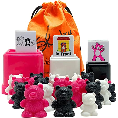 Skoolzy Preschool Learning Toys – Size Matching Counting Bears Cups, Prepositions Dice - Color Sorting Bear Counters Educational Toddler Toys For 3 4 5 6 Year Old Boys, Girls – Ebook Teaching Supplies