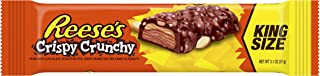 REESE'S Peanut Butter Candy Bar Crispy Crunchy Bars, King Size (Pack of 18)