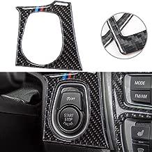 M Colored Color Real Carbon Fiber Engine Start Button Trim Sticker for BMW 3 4 Series M3 M4