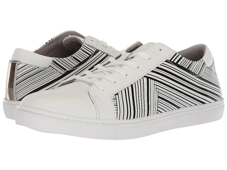 Kenneth Cole New York Kam Stripes (White/Black) Men