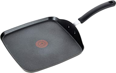 T-fal, Ultimate Hard Anodized, Nonstick 10.25 In. Square Griddle, Black, , 10.25 Inch, Grey