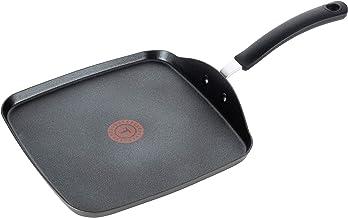 T-fal B36313 Specialty - Plancha de queso antiadherente, Titanio anodizado duro antiadherente, Gris, 26 cm, 1