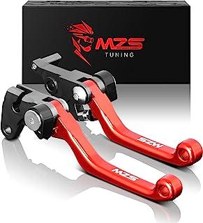 MZS Pivot Levers Brake Clutch CNC Compatible with OEM CR125R CR250R 2004-2007/ CRF250R CRF450R 2004-2006/ CRF250X 2004-2018/ CRF450X 2005-2018 (Red)