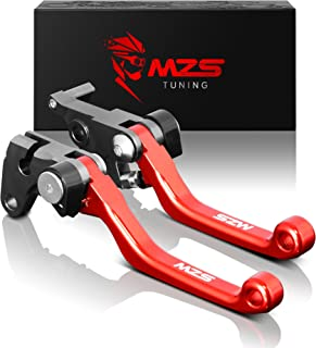 MZS Pivot Levers Brake Clutch Foldable CNC for Honda CRF150F CRF 150F 2003-2018/ CRF230F CRF 230F 2003-2018 (Red)