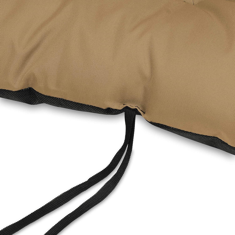 Marrone Cuscino Lungo per Panchina da Giardino 140x50 cm con Schienale 140x60 cm Resistente e Comodo per Panca da Esterno ed Interno SuperKissen24