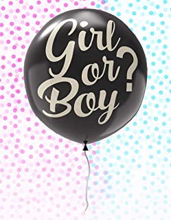 Gender Reveal Balloon Set with Blue and Pink Confetti - Baby Announcement or Shower Party Supplies
