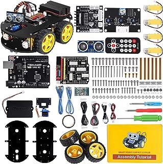 ELEGOO UNO R3 Kit de Coche Robot Inteligente V3.0 Plus Compatible con Arduino IDE con Módulo de Seguimiento de Línea, Sens...