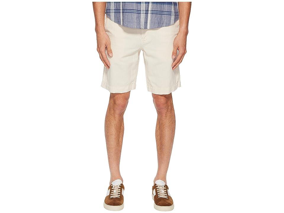 Image of Billy Reid Clyde Linen Shorts (Eggshell) Men's Shorts