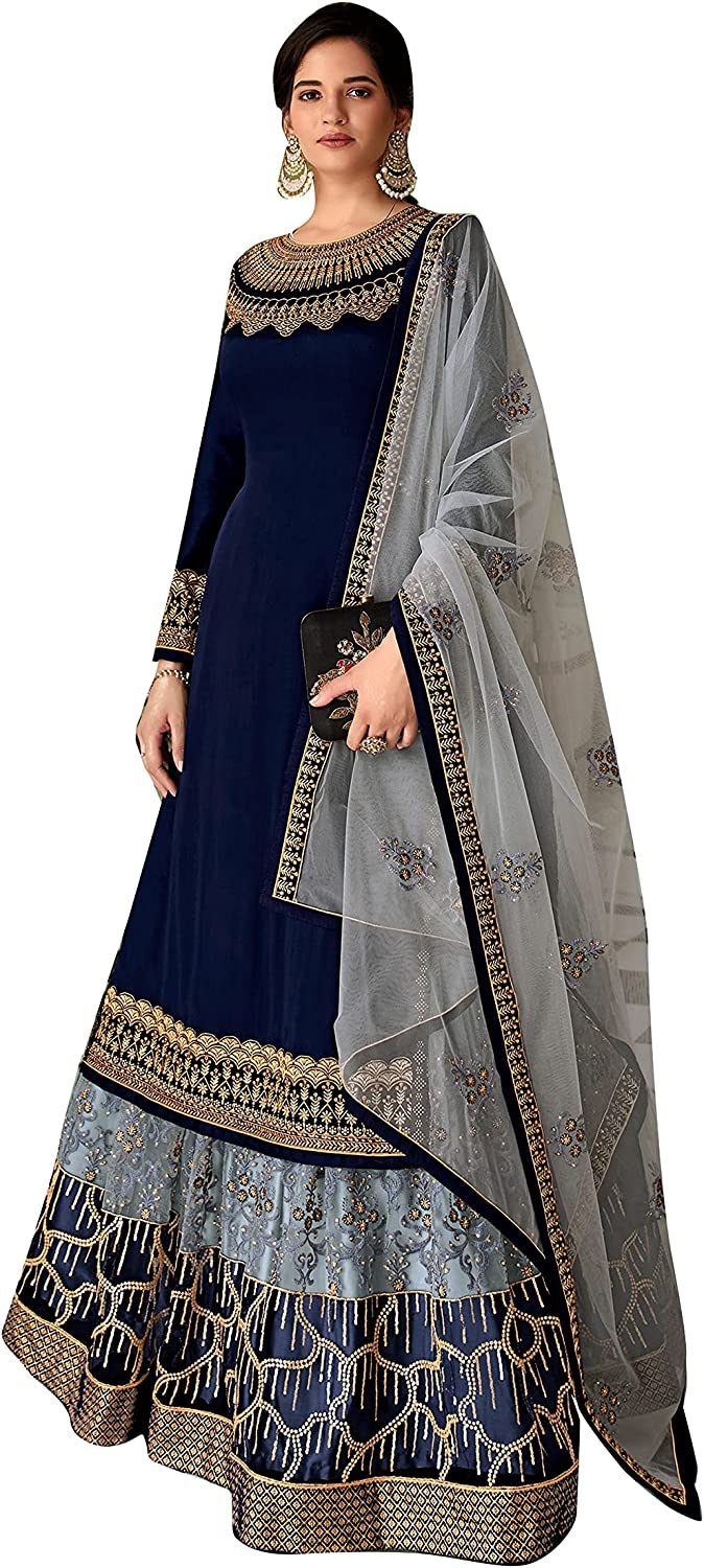 Sharara Suit For Women Super Navy Rangoli Max 84% OFF Model Green online shopping Georgette