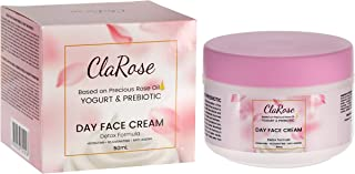 ClaRose Detoxifying Anti-Ageing Face Cream with 100% Natural Rose oil Yogurt and Prebiotic; 50ml
