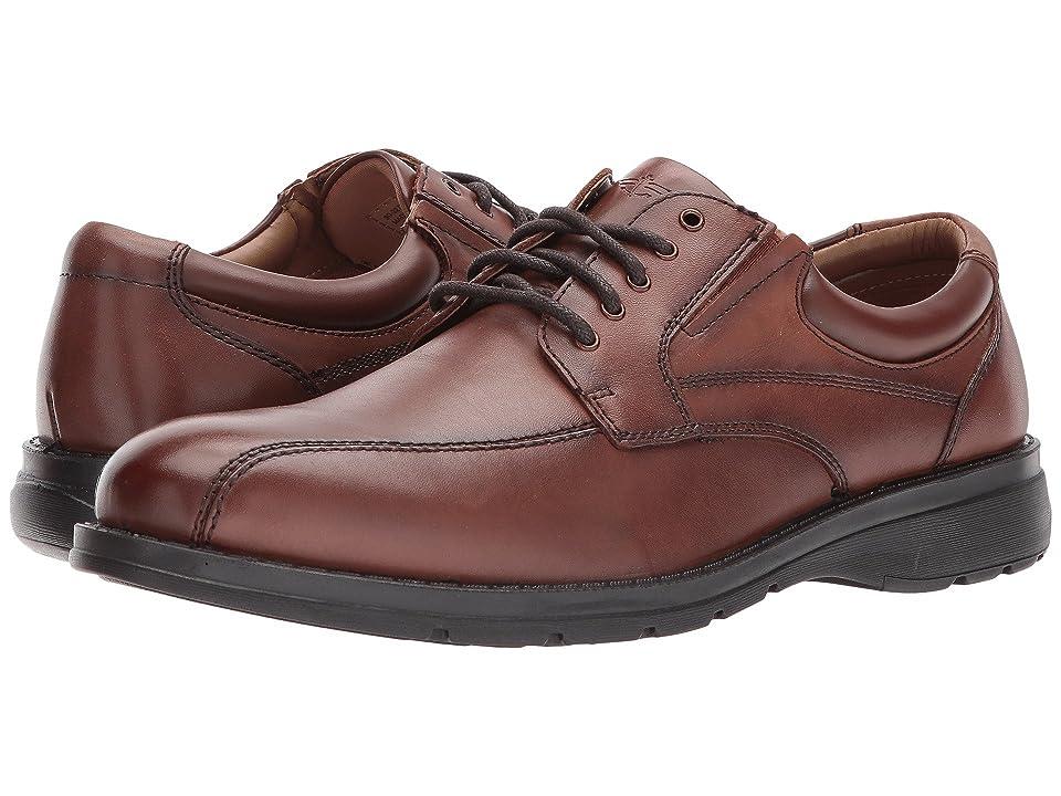 Dockers Trustee 2.0 Moc Toe Oxford (Dark Tan Polished Full Grain) Men